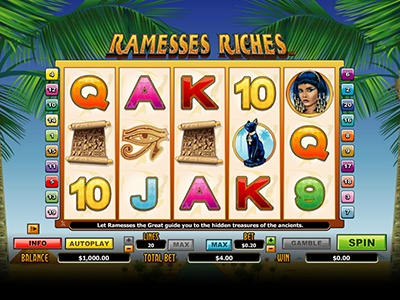 Обзор слота Ramesses Riches в казино Вулкан